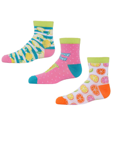 Lemons Ankle Socks | MeMoi mid cut Socks for girls |  Assorted MKC 1003