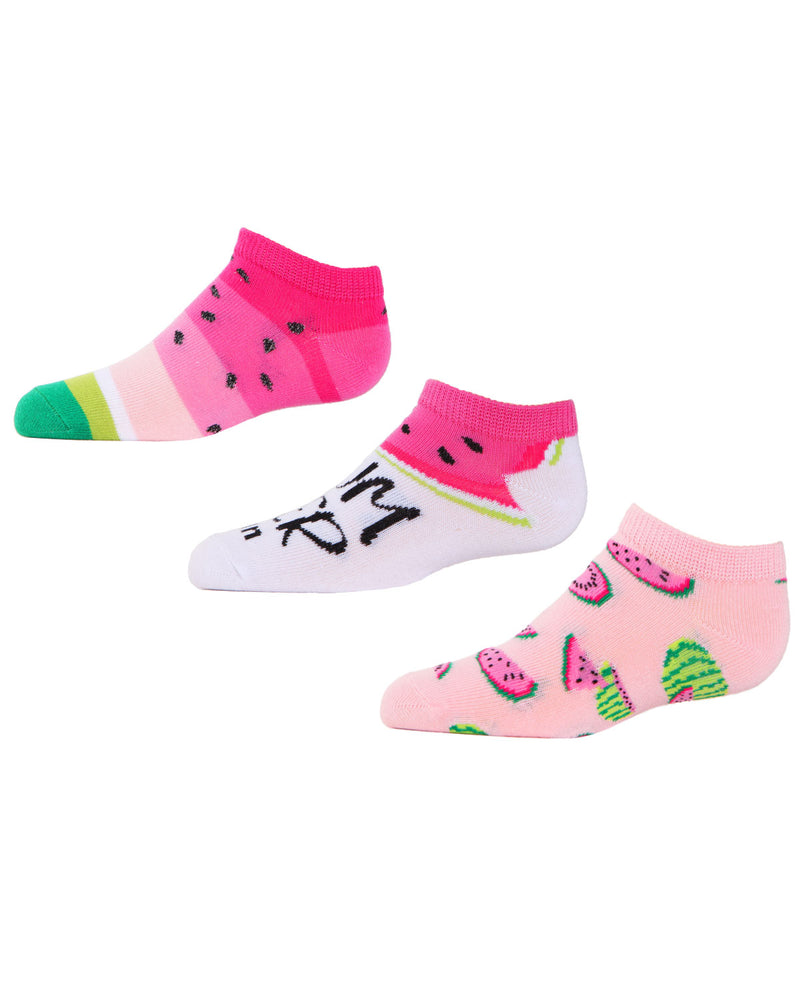 Watermelon No Show Socks | MeMoi low cut Socks for girls | Children's clothes | Assorted MKC 2002