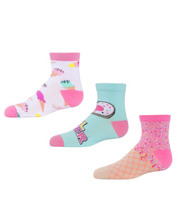 MeMoi Ice Cream Girls Ankle Socks 3-Pack