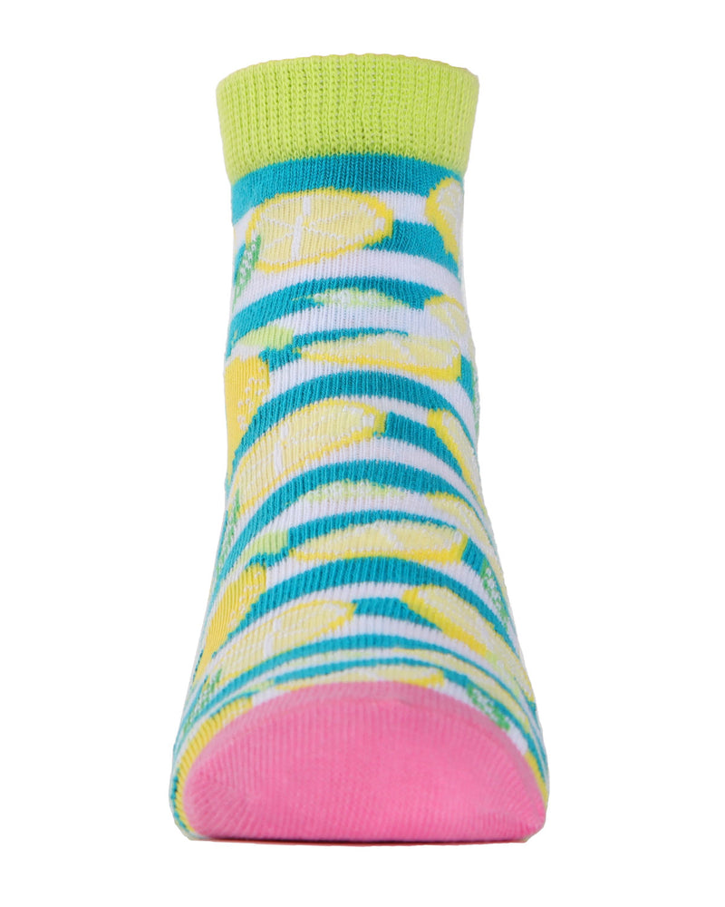 Lemons Ankle Socks | MeMoi mid cut Socks for girls |  Assorted MKC 1003 -4