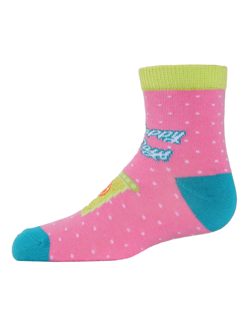 Lemons Ankle Socks | MeMoi mid cut Socks for girls |  Assorted MKC 1003 -5
