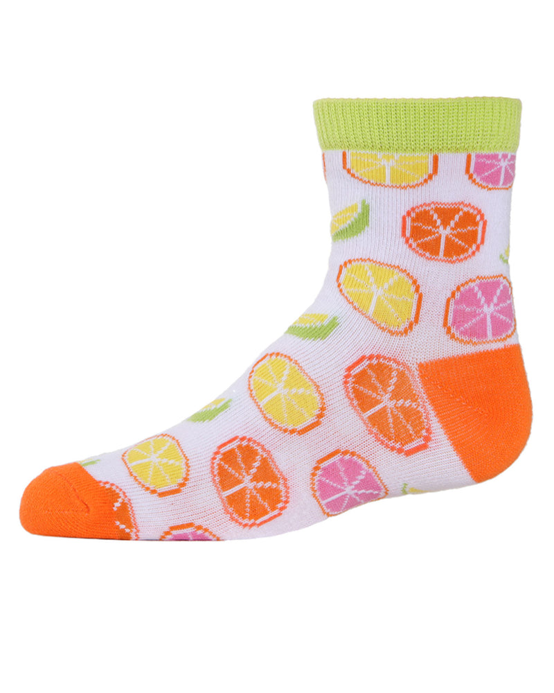 Lemons Ankle Socks | MeMoi mid cut Socks for girls |  Assorted MKC 1003 -8