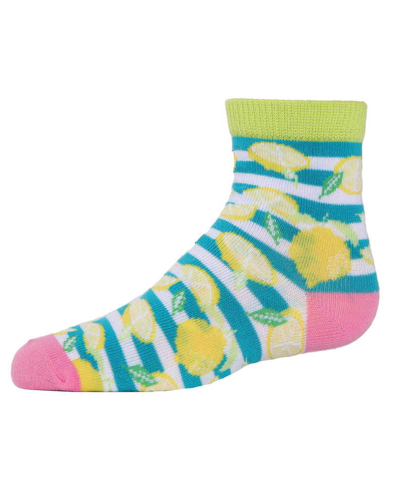 Lemons Ankle Socks | MeMoi mid cut Socks for girls |  Assorted MKC 1003 -3