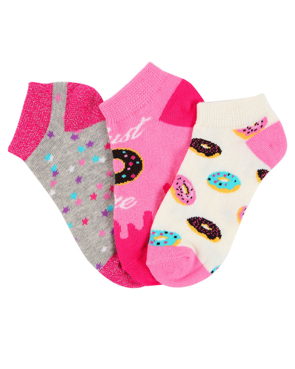 Donut No Show Socks| MeMoi low cut Socks for girls |  Assorted MKC 2000 -2