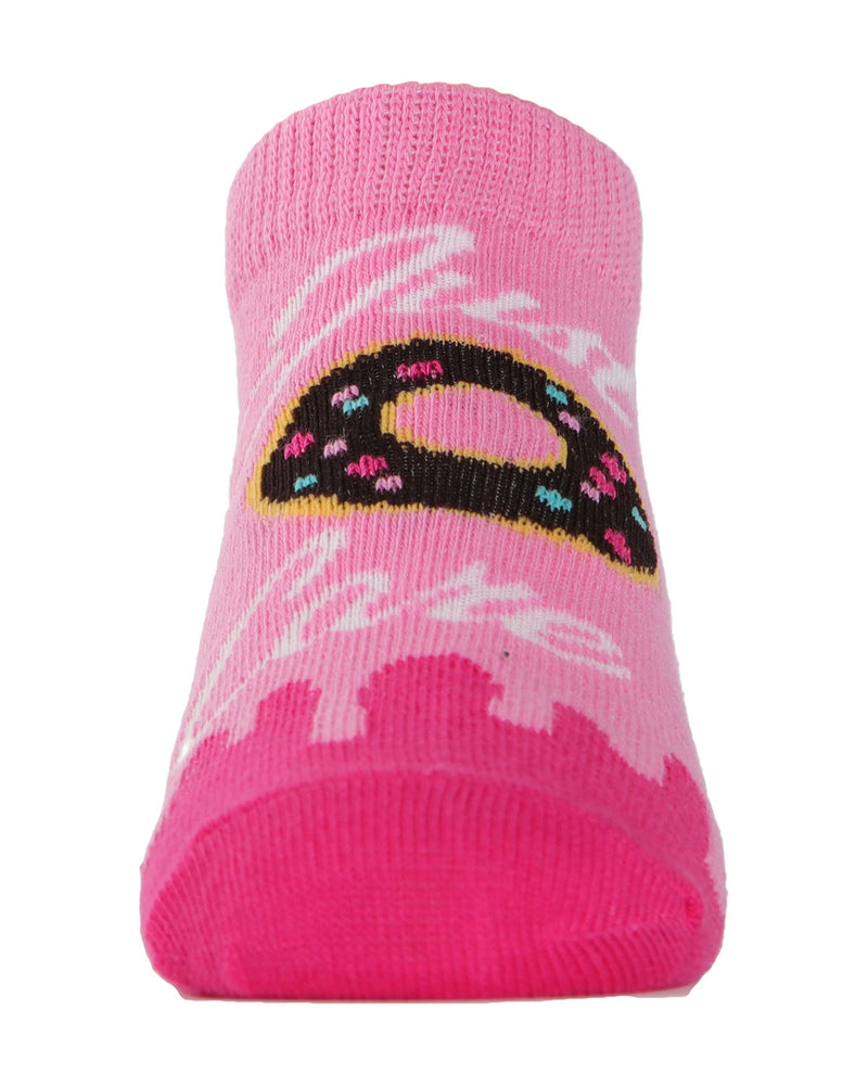 MeMoi Donut No Show Girls Socks 3-Pack