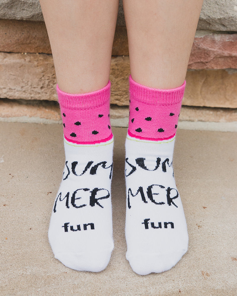 Watermelon No Show Socks 3-Pack
