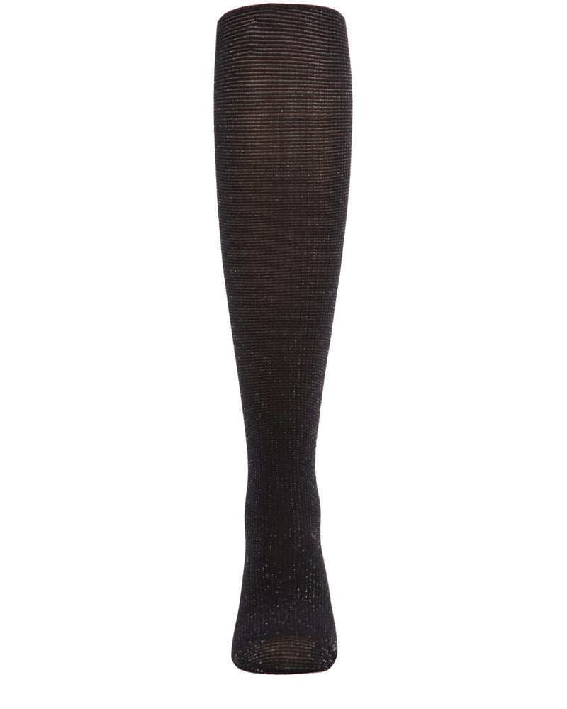 Shimmering Sheer Tights | Sheer Tights for Girls by MeMoi® | Black MKF 4010 -2
