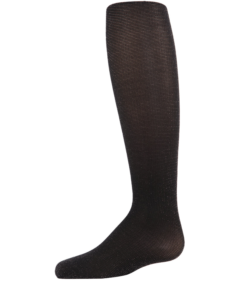 Shimmering Sheer Tights | Sheer Tights for Girls by MeMoi® | Black MKF 4010 -1