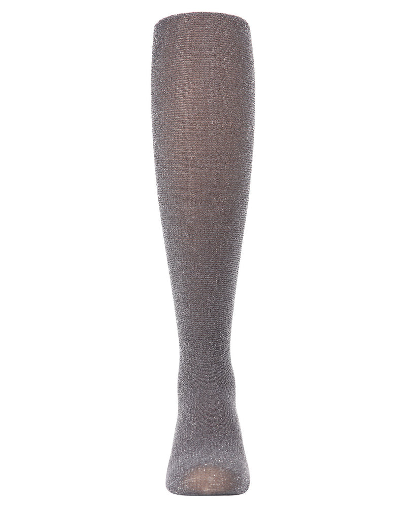 Shimmering Sheer Tights | Sheer Tights for Girls by MeMoi® | Silver MKF 4010 -2