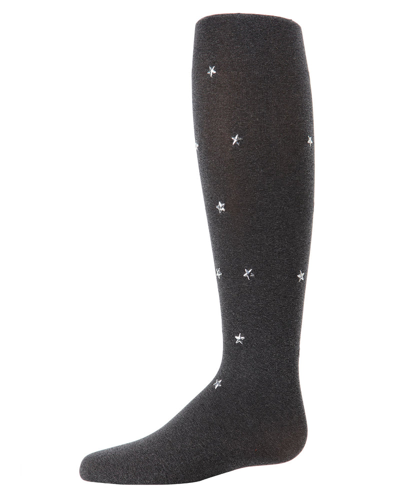 Star-Gazer Tights Socks | Socks By MeMoi®  | MKF-4011 | Heather Gray