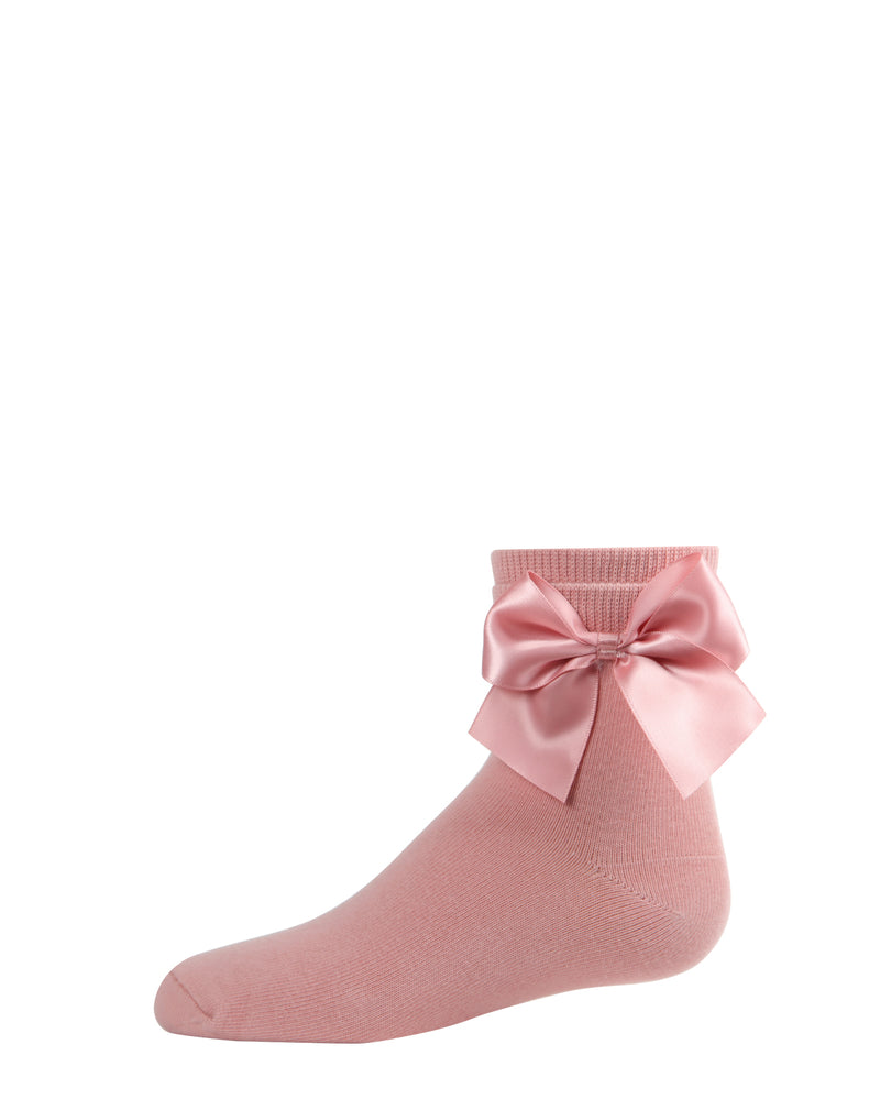 Side Bow Anklet Socks | Socks By MeMoi®  | MKF-6032  | Blush Pink 2