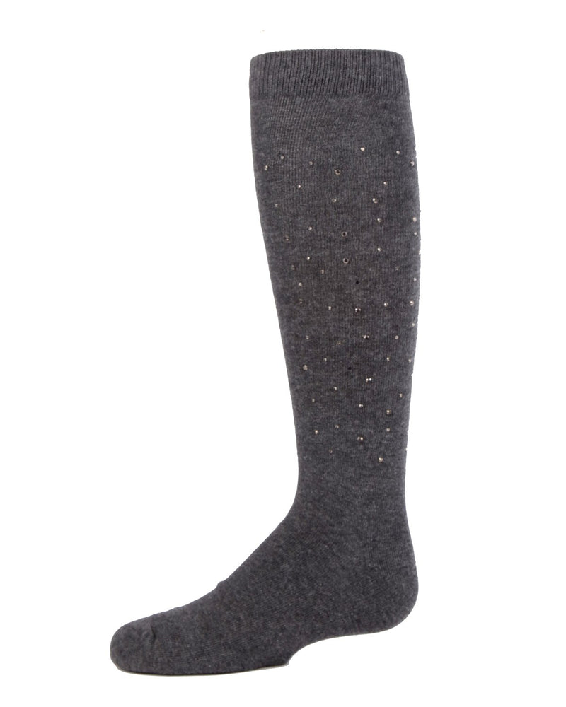 MeMoi Jazzy Jeweled Girls Knee Socks