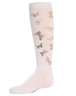 Gold and Gilded Knee-high Girls Socks