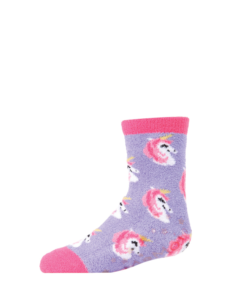 Unicorn 2-Pair Fuzzy Socks | Socks By MeMoi®  | MKF-9600 | Fuchsia 2