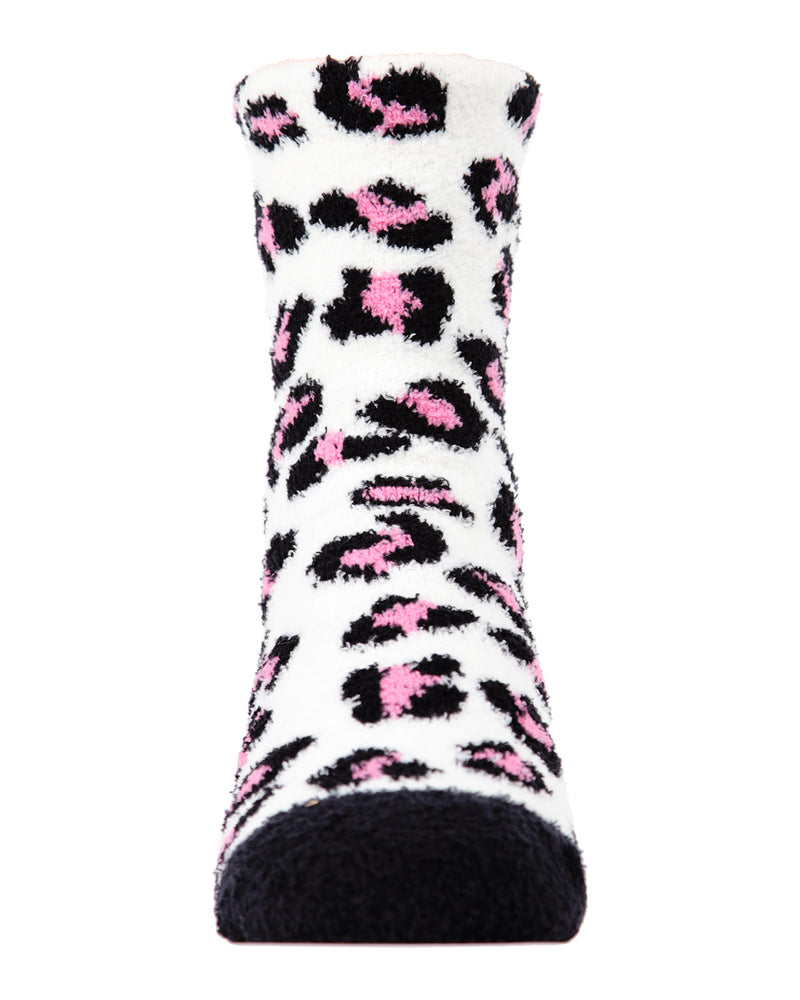 Leopard 2-Pair Fuzzy Socks | Socks By MeMoi®  | MKF-9601 | Black 5