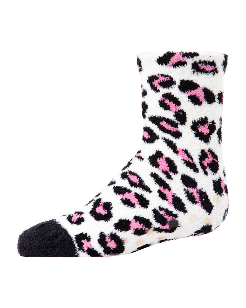 Leopard 2-Pair Fuzzy Socks | Socks By MeMoi®  | MKF-9601 | Black 4