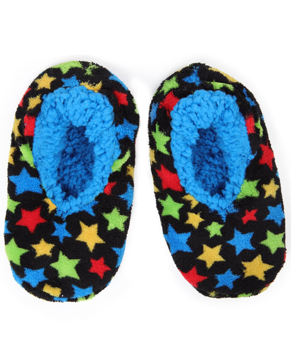 Starry Sky Boys Slippers | Space House Slippers for boys | Black MKF5-2535
