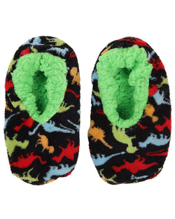 Dino-Mite Boys Slippers | Dinosaur House Slippers for boys | Black MKF5-2537