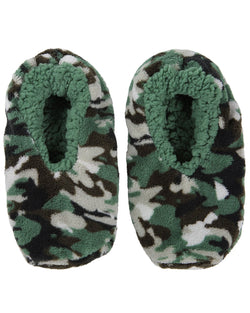 Camo Print Boys Slippers