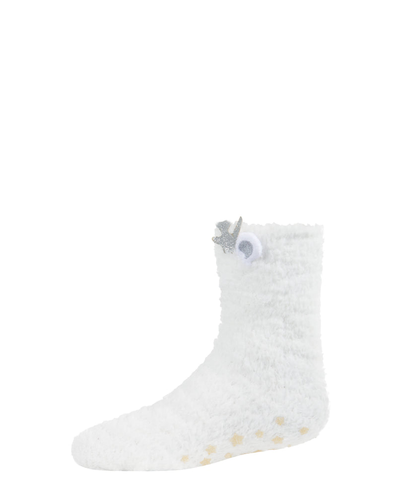 Polar Bear Fuzzy Socks | Socks By MeMoi®  | MKF-9604 | White 1