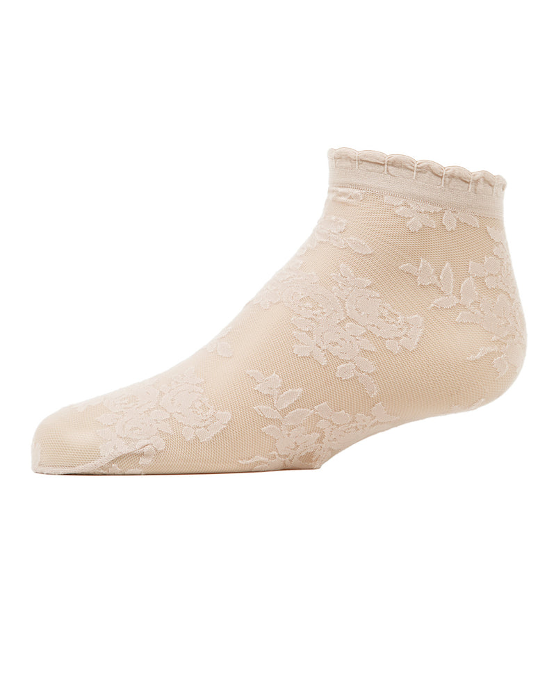 MeMoi Botanic Sheer Girls Anklet Socks