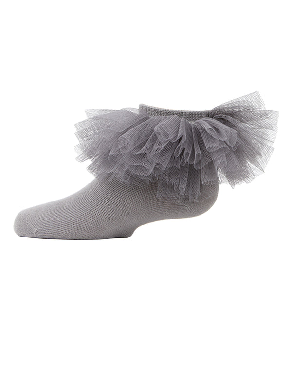 Tutu Anklet Socks | MeMoi anklet Socks for girls |  Gray MKF 6031