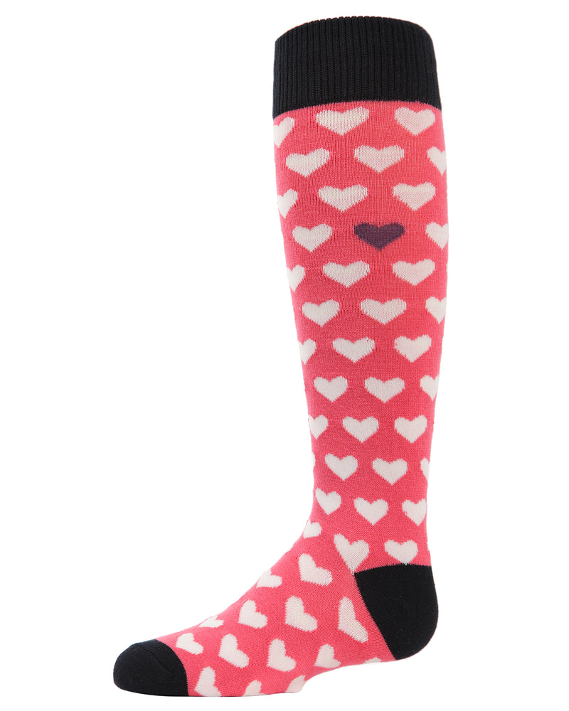 Multi-Hearts Knee-High Socks