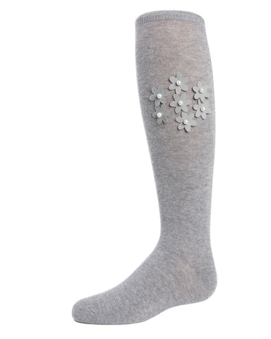 Floral Pearl Knee-High Socks