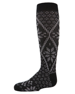Snowflake Mix Knee-High Boot Socks