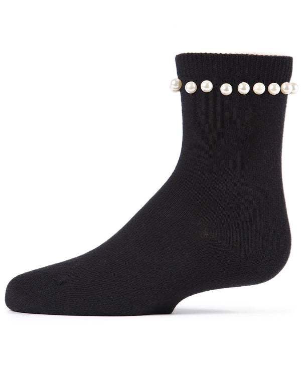 String of Pearls Girls Crew Socks