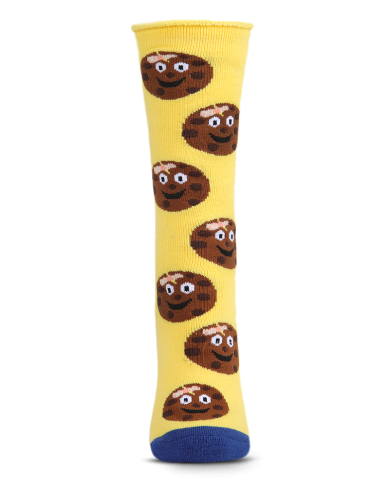 Tough Cookie Greeting Card Socks | Hospital Socks by MeMoi | Yellow MKV06232 | Front