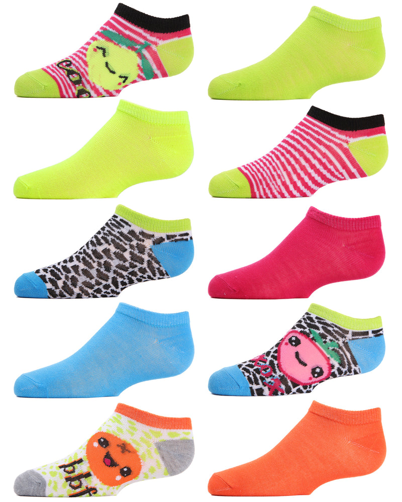 Fruit 10-Pack Girl's Low-Cut Socks