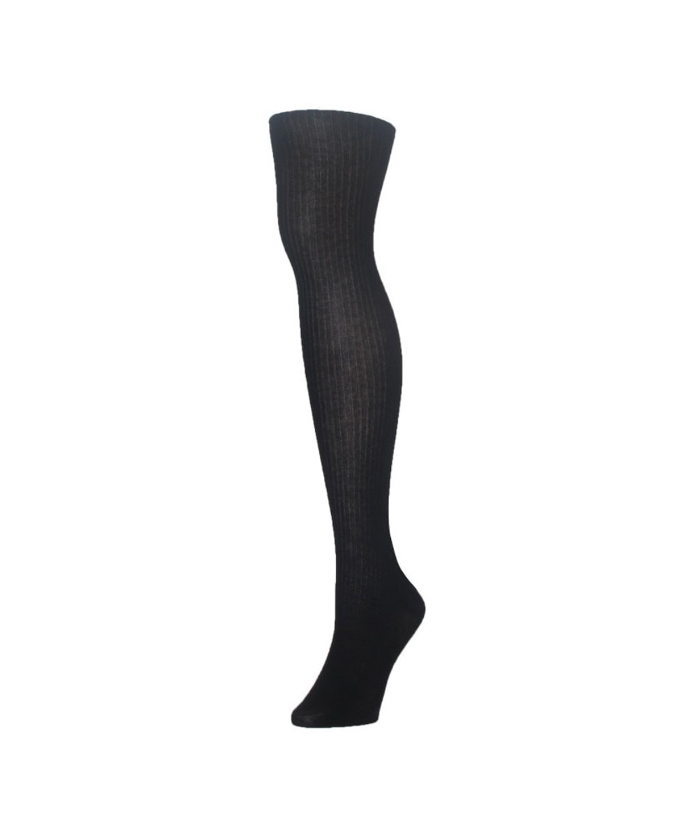 Modal Wide Rib Sweater Tights - MeMoi - 2