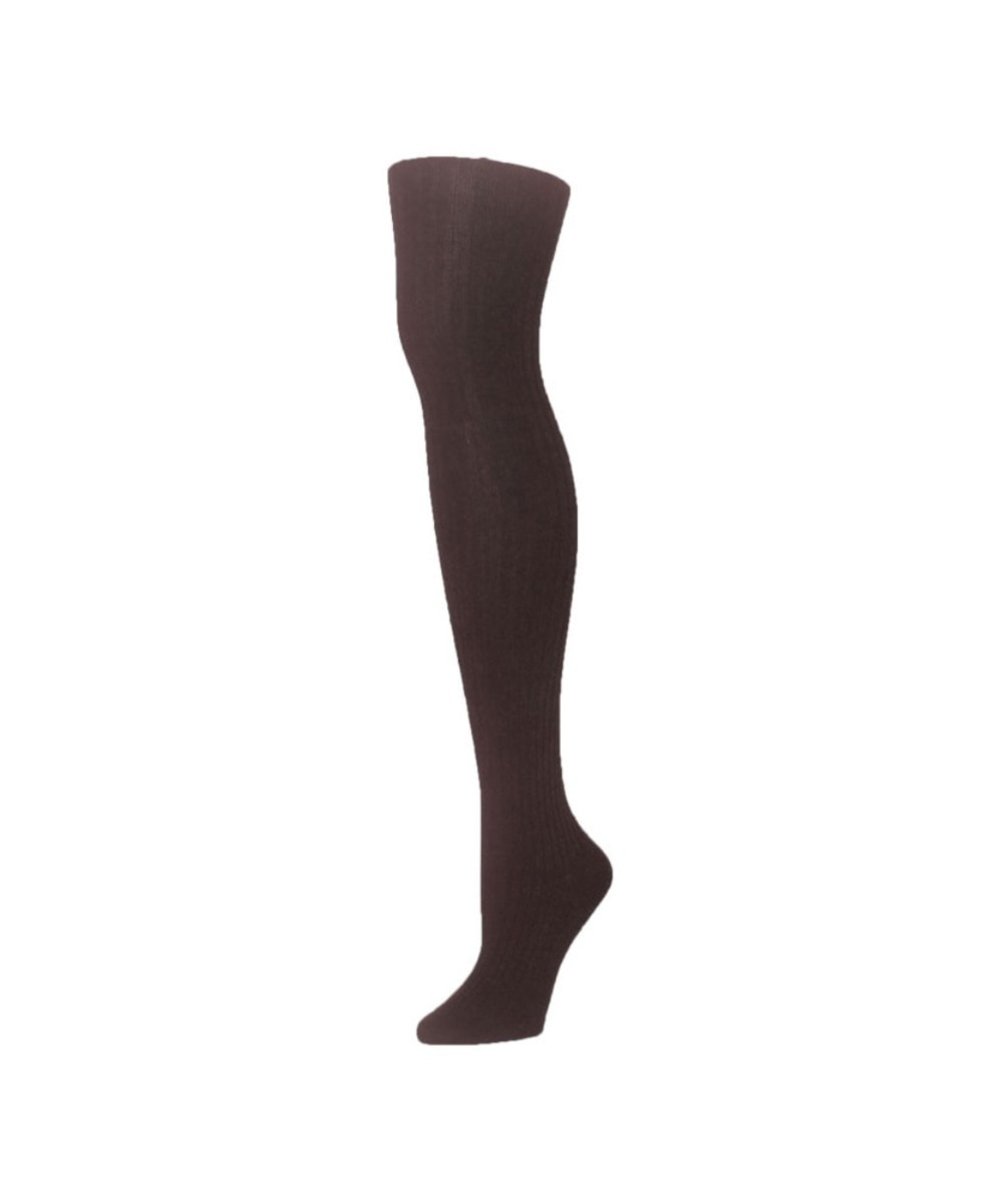 Modal Wide Rib Sweater Tights - MeMoi - 1