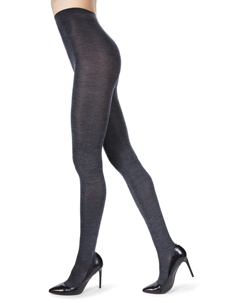 MeMoi Merino Wool Solid Knit Tights