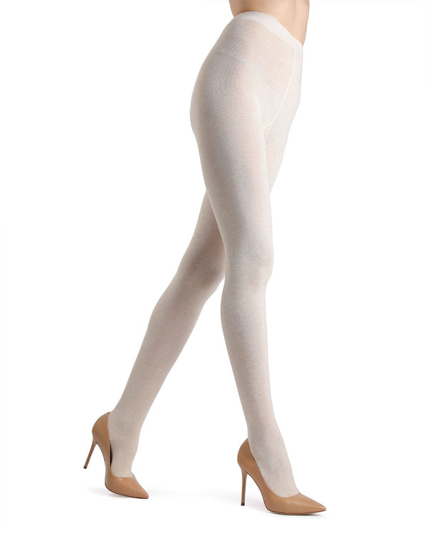 Memoi Oatmeal Angora Blend Tights | Women's Hosiery - Pantyhose - Nylons