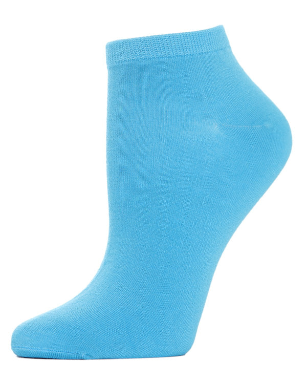 Bamboo Solid Knit Low Cut Socks | Low Cut Socks by MeMoi® | -ML-517 Aquarius-