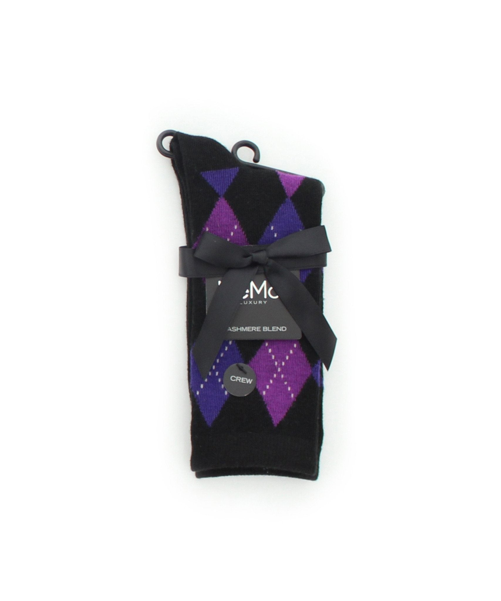 Alternate Diamonds Cashmere Blend Crew Socks - MeMoi - 1
