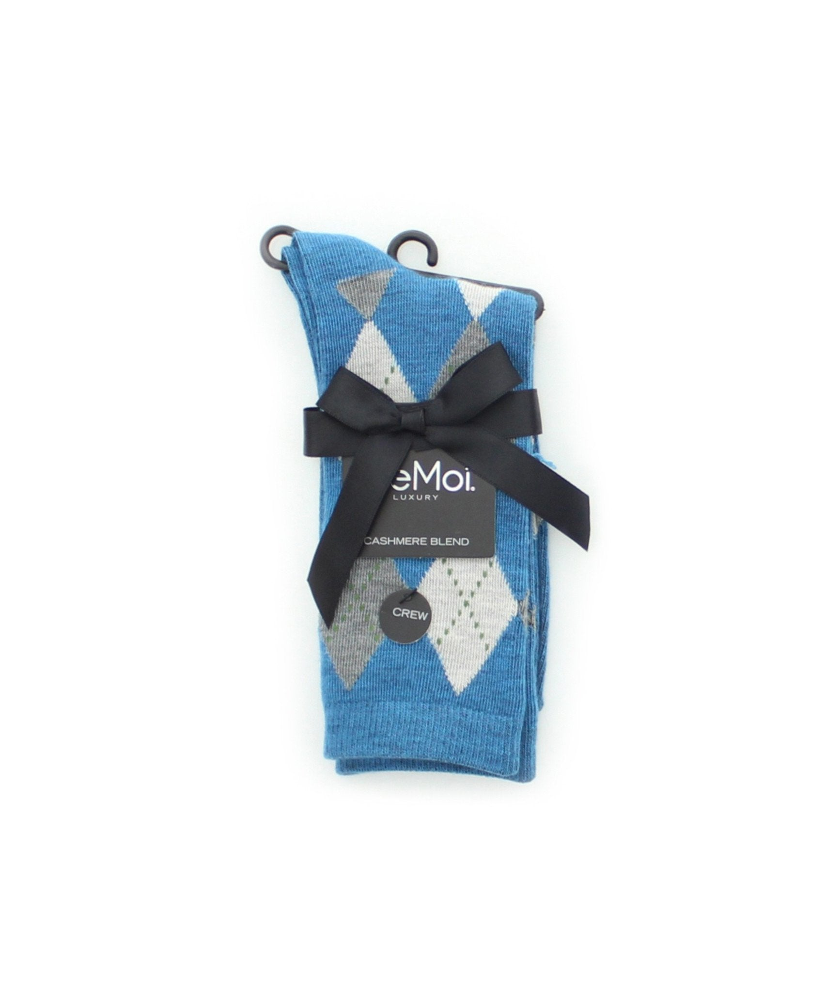 Alternate Diamonds Cashmere Blend Crew Socks - MeMoi - 2