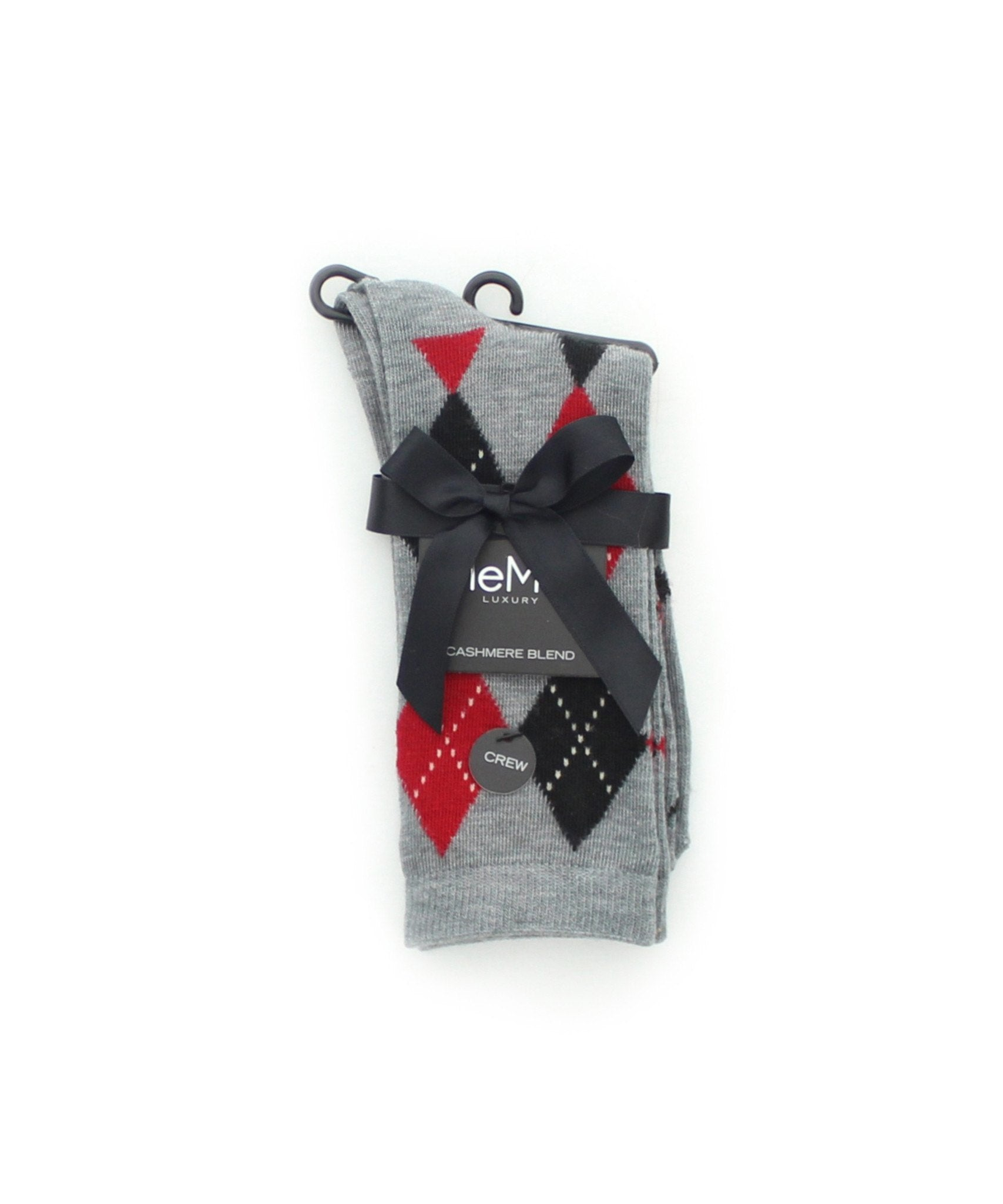 Alternate Diamonds Cashmere Blend Crew Socks - MeMoi - 3