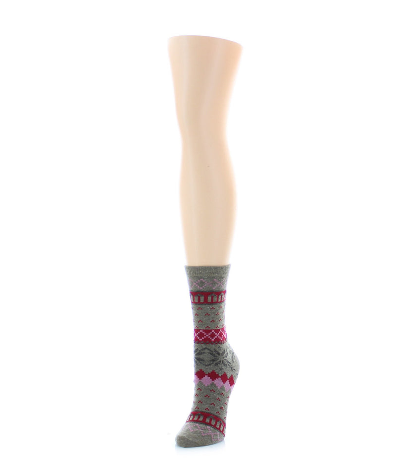 MeMoi Snow Wool Crew Sock