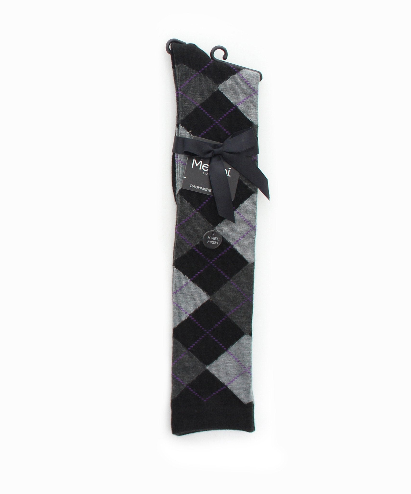 Argyle Shades Cashmere Blend Knee High - MeMoi - 2
