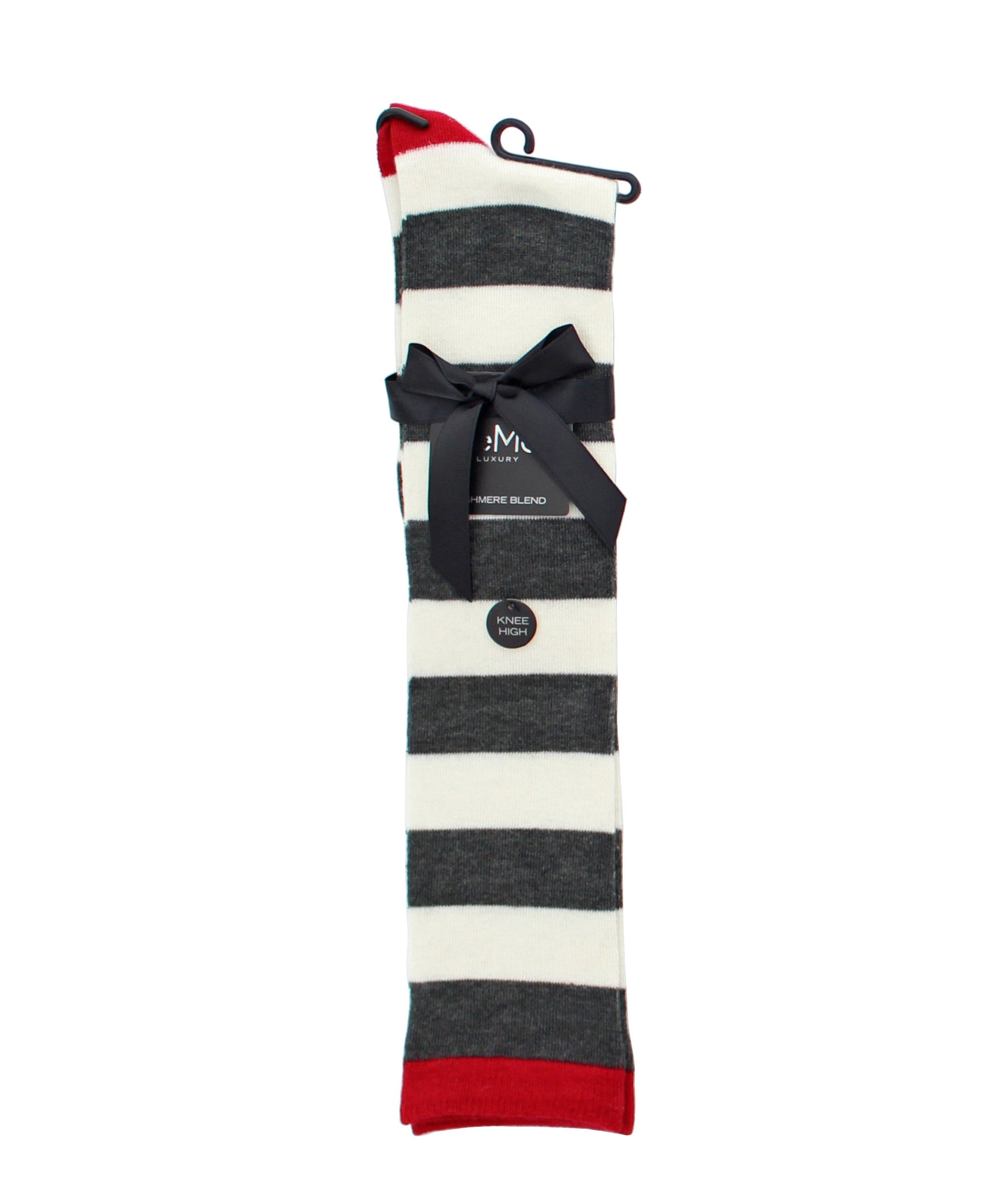 Shaded Stripes Cashmere Blend Knee High Socks