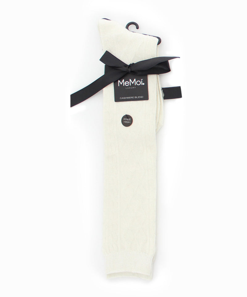 Diamond Twist Cashmere Blend Knee High - MeMoi - 1