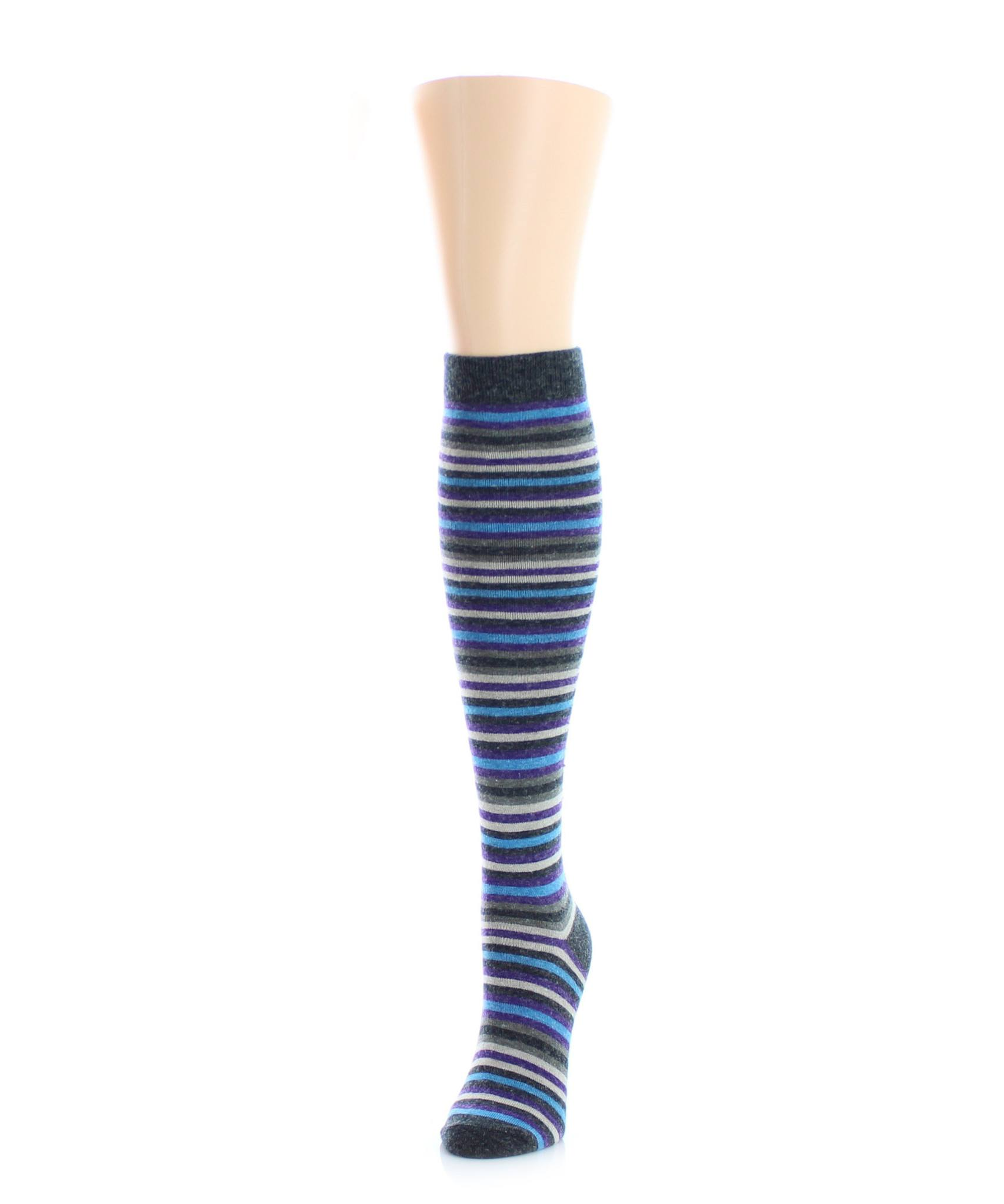 Stripe Out Wool Knee High - MeMoi - 2