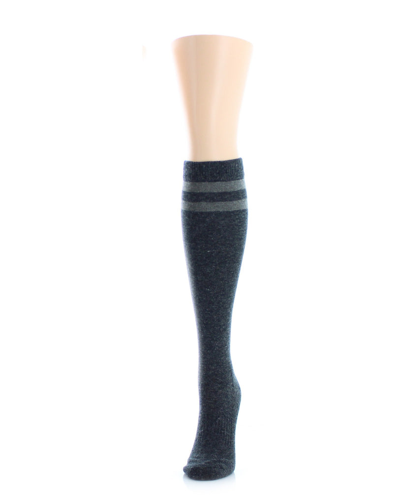 Double Tipped Wool Half Cushioned Knee High - MeMoi - 1