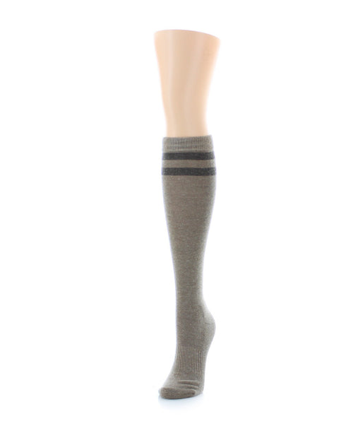 Double Tipped Wool Half Cushioned Knee High - MeMoi - 2