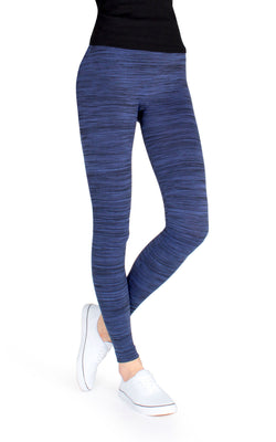 MeMoi Mariana Fleece-Lined Spacedye Winter Leggings