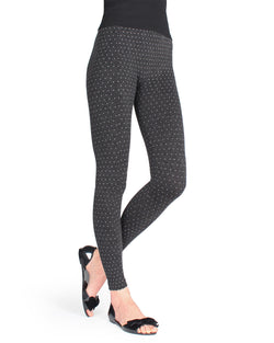 Sparkle Dot Leggings| Leggings by MeMoi | MLB-016 | Black