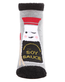 I'm Soy Into You Low Cut Socks | Socks By MeMoi®  | MLV05685 | Medium Gray